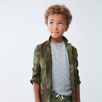 J.Crew Boys' unstructured Ludlow jacket in camo