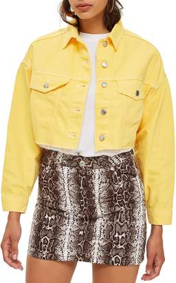Topshop Hacked Denim Jacket