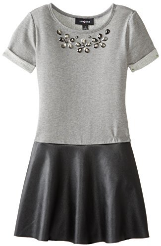 Amy Byer Big Girls' Knit-To-Pleather Shirt Dress