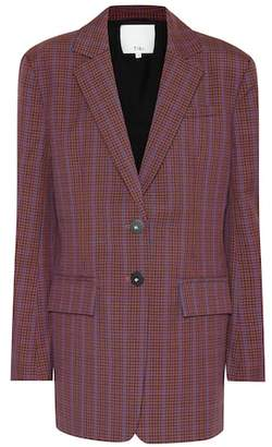 Tibi Checked wool-blend blazer