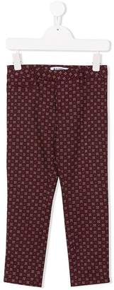 Dondup Kids patterned smart trousers