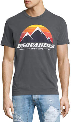 Dsquared2 GRY D2 PEAKS LOGO TEE $265 thestylecure.com