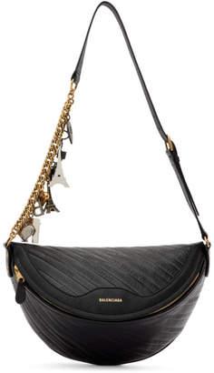 Balenciaga Black Leather Souvenir Bag