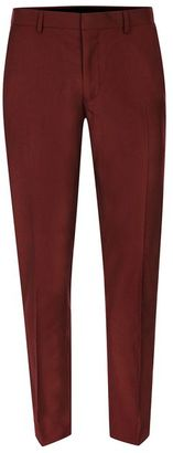 Burgundy Skinny Fit Suit Pants $80 thestylecure.com