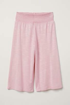 H&M Viscose Pants with Smocking - Pink