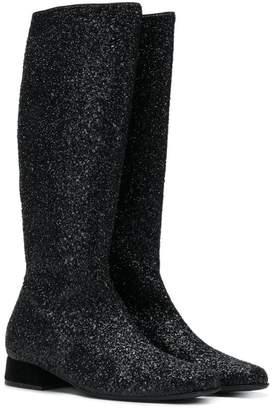 MonnaLisa TEEN sequin embellished boots