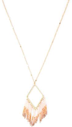 Panacea Pannee By Gold-Tone Diamond Crystal Fringe Necklace