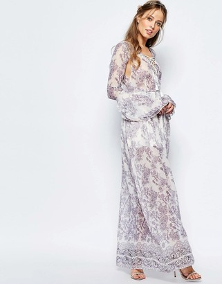 The Jetset Diaries Infinity Maxi Dress in Purple Print $300 thestylecure.com