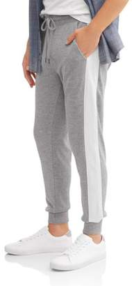 LAZER Men's Terry Jogger with Mesh Side Stripe