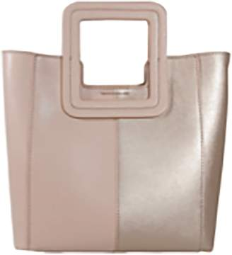 Tmrw TMRW Antonio Mini Color Block Bag in Natural/Rosegold Leather