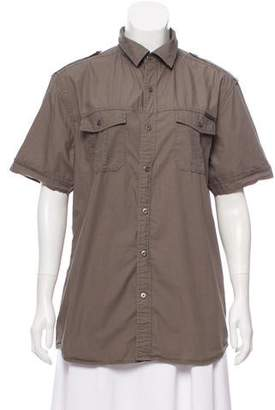 Rock & Republic Short Sleeve Button-Up Top