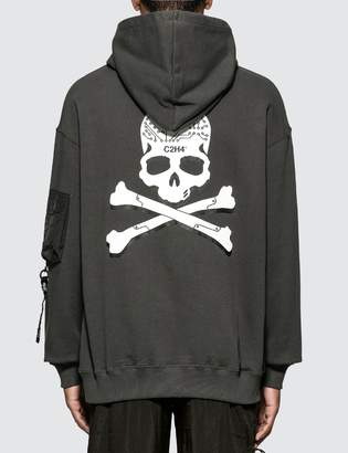 C2h4 Los Angeles C2H4 x Mastermind Japan Skull Print Zip Pocket Hoodie