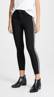 L'Agence Margot Sequin Stripe Jeans