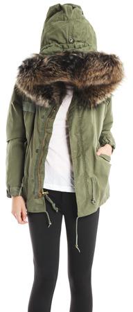 Mr & Mrs Furs Mini Army Parka