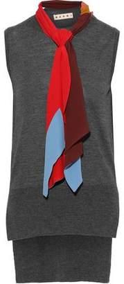 Marni Tie-neck Cashmere Top