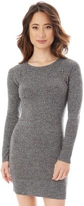 Iz Byer Juniors' Lace-Up Shoulder Sweater Dress