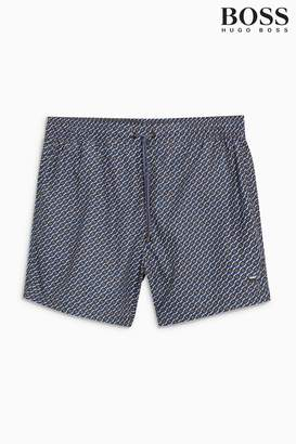 Next Mens BOSS Blue Pomfret Swim Short