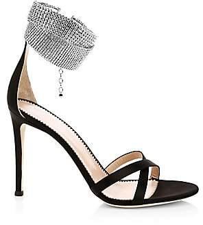 Giuseppe Zanotti Women's Criss Cross Embellished Slingback Sandals