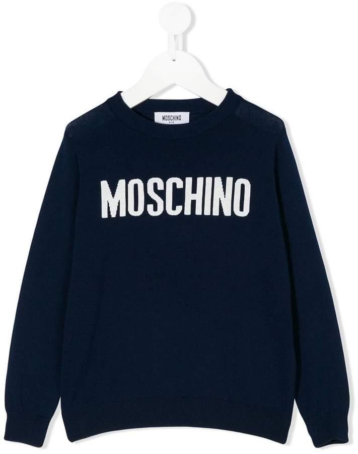 Moschino Kids logo knit sweater