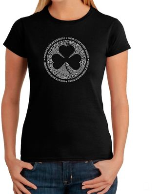 Women's Word Art Irish T-Shirt in Black $19.99 thestylecure.com