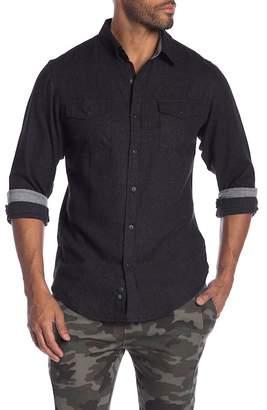 Burnside Solid Regular Fit Flannel Shirt
