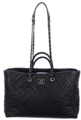 11483def9d40 Chanel Lizard-Trimmed Coco Handle Tote