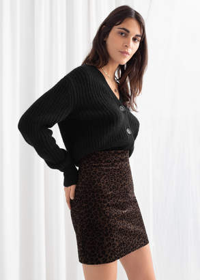 And other stories Leopard Corduroy Mini Skirt