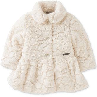 Calvin Klein Baby Girls' Faux Fur Coat $60 thestylecure.com