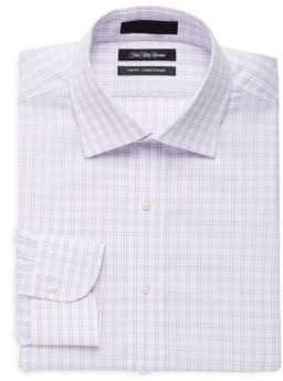 Saks Fifth Avenue Slim-Fit Cotton Plaid Dress Shirt