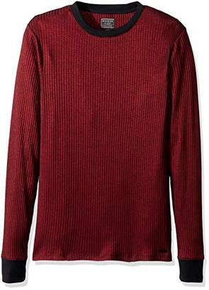 GUESS Men's Long Sleeve Voyager Rib Crew Neck Shirt