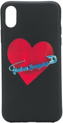 safety pin heart iPhone X case