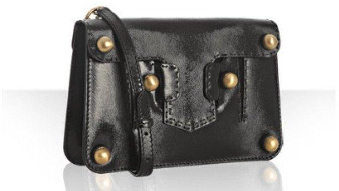 Fendi black leather 'Secret Code' convertible clutch