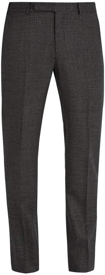 Ermenegildo Zegna Slim-leg checked wool trousers