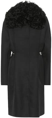 Mantel Stuart aus Wolle und Seide