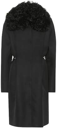 Moncler Stuart wool and silk coat