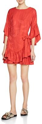 Maje Rahima Ruffle Dress $440 thestylecure.com