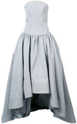 Christian Siriano bustier asymmetric gown