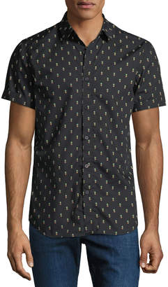Sovereign Code Men's Prank Pineapple Short-Sleeve Sport Shirt
