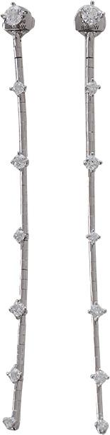 MATTIA CIELO Rugiada Diamond Station Earrings