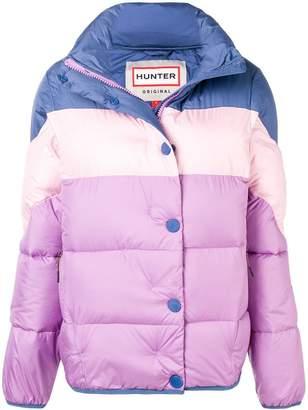 Hunter colour block puffer jacket