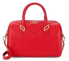 Versace Pebbled Leather Boxed Tote Shoulder Bag