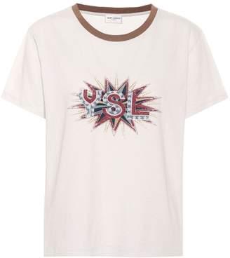 Saint Laurent (サン ローラン) - Saint Laurent Printed cotton T-shirt