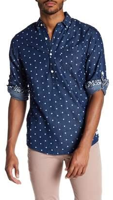 Report Collection Denim Dot Slim Fit Shirt