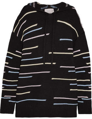 Victor Glemaud - Oversized Cotton And Cashmere-blend Hooded Sweater - Black