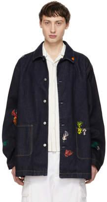 Acne Studios Indigo Bla Konst Denim Stealh Gum Jacket