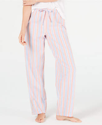 Charter Club Stripe-Print Woven Soft Cotton Pajama Pants