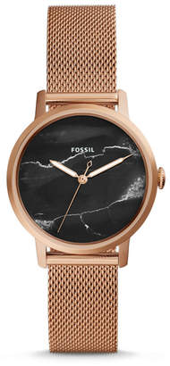 Fossil Neely Three-Hand Rose Gold-Tone Stainless Steel Watch