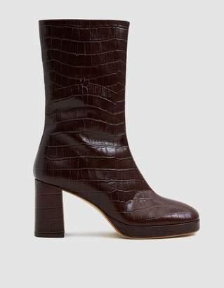 Miista Carlota Croc Mid-Calf Boot