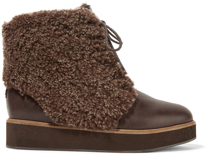 Australia Luxe CollectiveAustralia Luxe Collective Bundaburg shearling-trimmed leather boots