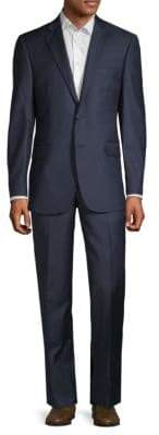 Saks Fifth Avenue Mini Check Wool Suit